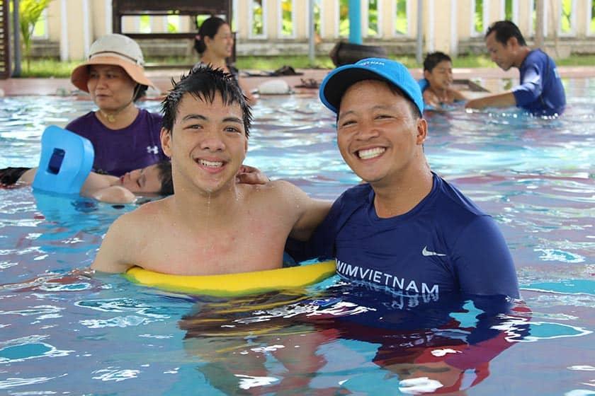 Having fun learning to swim at Swim Vietnam
