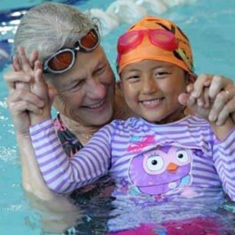 Joanne with Tibetan Swimmer-Collaroy Turtles