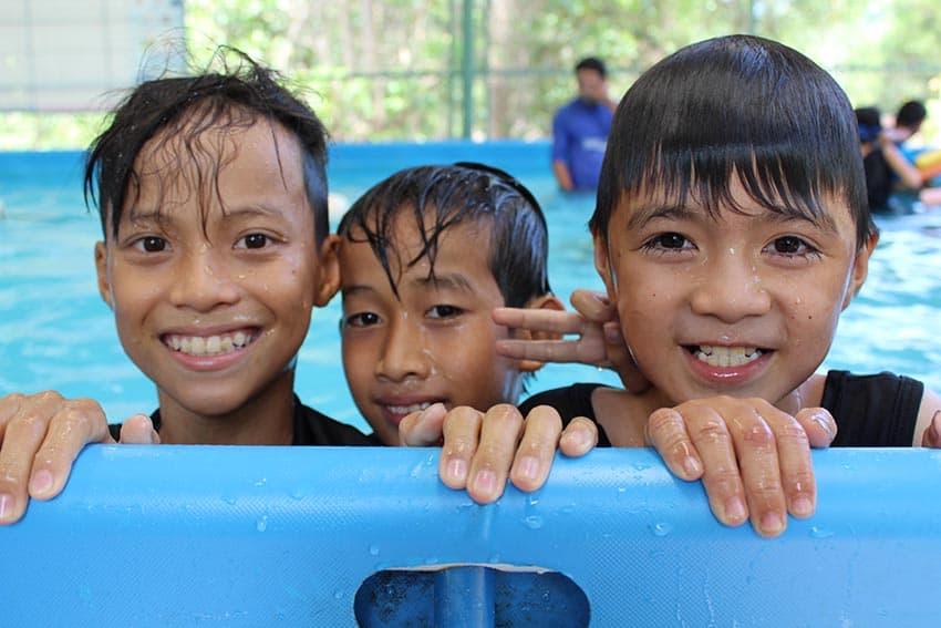 Learning water safety skills is important in rural areas